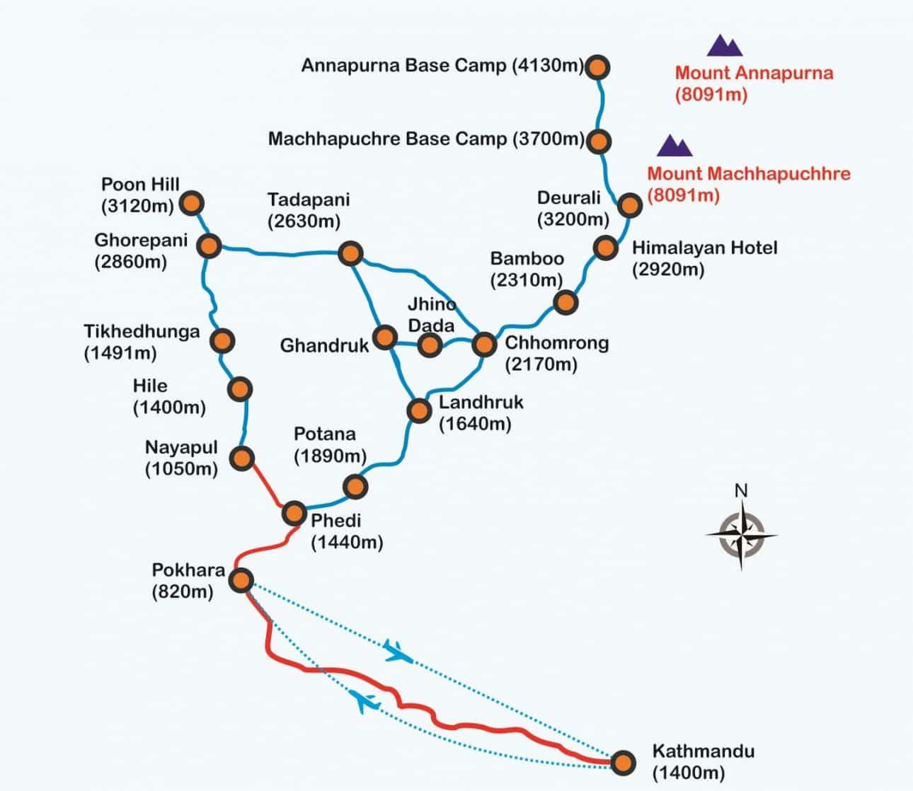 Annapurna-Base-camp-Trek-Map