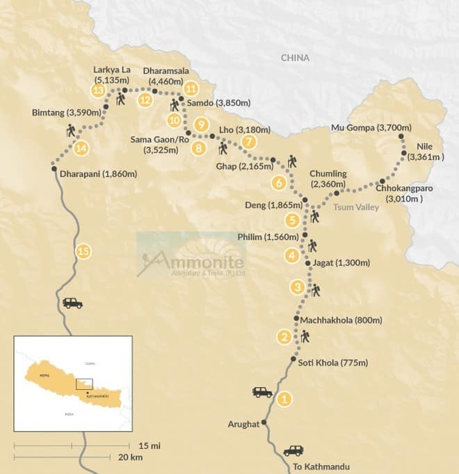 Manaslu-Trek-map