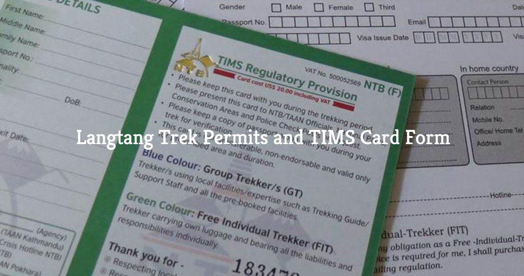 Langtang Valley Trek permit Price
