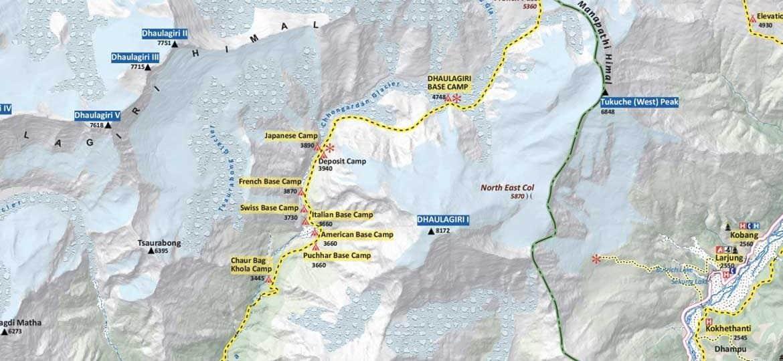 Dhaulagiri-Round-Trek-Map